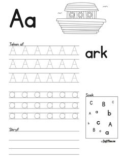 Grade R Worksheets Free Printable Teachers Grade R Worksheets, Free Printable Worksheets, Alphabet Worksheets, Worksheets For Kids, Alphabet Activities, Printables, Printable Alphabet Letters, Alphabet For Kids, Afrikaans Language