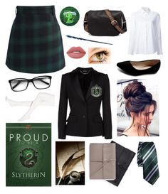 """Slytherin"" by prettyflyforawifi ❤ liked on Polyvore featuring Chicwish, Misha Nonoo, Alexander McQueen, Hue, Ollio, Lime Crime, Steve Madden and Bynd Artisan"