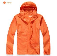 Convenient Portable Unisex Waterproof Quick-Dry Lightweight Windbreaker 15 Colors XS-3XL