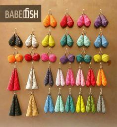 Rainbow jeweleries - Babelfish earrings Modern Paper Earrings / Lightweight Earrings / Paper Jewelry
