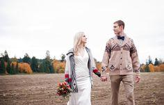 A styled wedding shoot in Portland, Oregon featuring Pendleton, Duchess Clothier, Bridge & Burn, Harding & Wilson, Bloke PDX, Beckel Canvas and more.