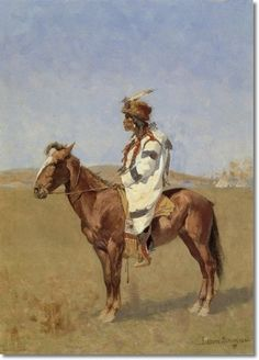 Frederick Remington, Indian painting