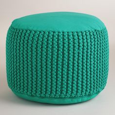 Aqua Indoor-Outdoor Pouf by World Market - Found on HeartThis.com @HeartThis