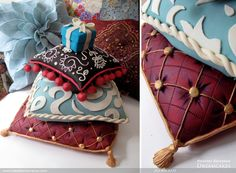 Pillow Engagement Cake by Heather Barranco Dreamcakes.