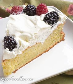 sponge cake: 9 eggs separated 1/2 tsp cream of tartar 1/2 tsp vanilla extract 1 tsp vanilla liquid stevia 1 tbsp lemon zest 1/4 cup coconut flour I used Bob's Red Mill 1/4 cup vanilla protein powder I used Jay Robbs, 1 scoop 1/2 cup Swerve confectioners sugar- free sweetener 1/2 tsp baking soda 1/2 tsp salt 4 tbsp butter melted and cooled