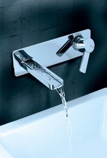Channelled waterfall Modo tap from Eau Couture