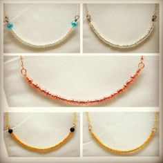 """New in the store! www.jfoxjewelry.com """"Morgan"""" Necklace (Various Colors Available!) - JFox Jewelry"""