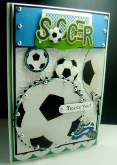 Cards by America: *** SOCCER THANK YOU cards ***