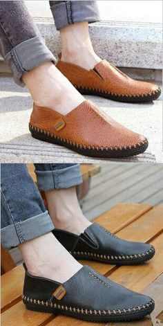 >> Buy here << Prelesty Autumn Stylish High Quality Genuine Leather Men Loafers Slip-On Casual Shoes Man Luxury Brand Men's Driving Shoe