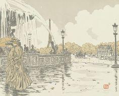 From the Place de la Concorde (De la place de la Concorde), 1902, Henri Rivière, Van Gogh Museum, Amsterdam (Vincent van Gogh Foundation)