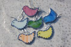 Stained Glass Easter Chicks Tree Decorations by BluebirdsGlass, £3.50 @Victoria Brown Brown Brown Fairhead @Sue Goldberg Goldberg Gifford Folk
