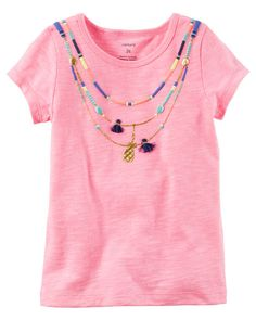 Baby Girl Neon Tassel Necklace Tee from Carters.com. Shop clothing & accessories from a trusted name in kids, toddlers, and baby clothes.