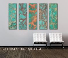 Rusted metal Abstract Painting / Copper and por TwistOfUnique
