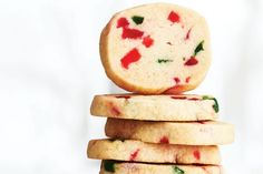 Cherry Icebox Cookies