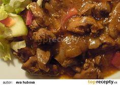 Ostrá drůbeží játra recept - TopRecepty.cz Kung Pao Chicken, Chicken Wings, Stew, Chicken Recipes, Food And Drink, Cooking Recipes, Treats, Ethnic Recipes, Kochen