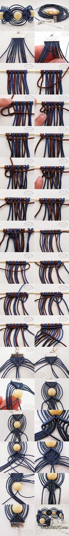 DIY Beaded Woven Bracelet | www.FabArtDIY.com LIKE Us on Facebook ==> https://www.facebook.com/FabArtDIY: