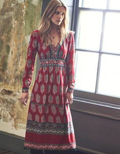 Marianne Print Dress | Red | Monsoon