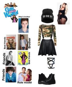 """""""Jade (girl meet world)"""" by guadalupe-pablo on Polyvore featuring Disney, WearAll and Converse"""