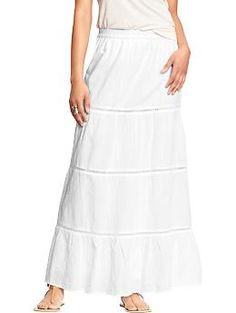 Women's Gauze Maxi Skirts | Old Navy