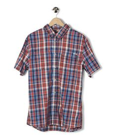 Take a look at this Dusty Blue Plaid Bakerfield Button-Up - Boys by etnies on #zulily today!