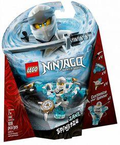 Empower your child to get creative with this LEGO Ninjago Spinjitzu Zane Lego Duplo, Lego Ninjago Spinners, Ninjago Lego Sets, Lego Ninjago Movie, Lego Toys, Katana, Ninjago Spinjitzu, Kai, Lego City Police