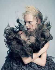 Hanne Gaby Odiele in 'Materia Lacrima' by Pierre Debusschere for A Magazine #13, March 2014.