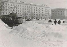 Куйбышев. Самарская площадь. Фотография. Март, 1963 год.