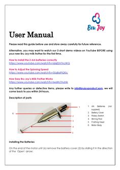 Bru Joy Milk Frother 2.0 User Manual Part 1  Get it from http://www.amazon.com/Bru-Joy-Stainless-2-0-Adjustable/dp/B00XH6D2YK now.