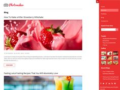 Nice Free WordPress Themes For Photography - TalkElement Email Templates, Wordpress Template, Best Free Wordpress Themes, Strawberry Milkshake, Create Your Own Website, Juice Fast, Header Image, Creative Portfolio, Blog Design