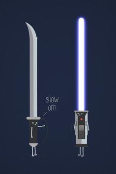 Saber vs. Lightsaber