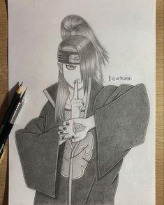 Naruto Sketch Drawing, Naruto Drawings, Art Drawings Sketches Simple, Naruto Kakashi, Naruto Shippuden, Deidara Akatsuki, Anime Art, Fan Art, Photo And Video