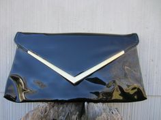 Items similar to Super Glossy Black Clutch w/ Golden Frame // Vintage Flat Party Purse on Etsy Black Clutch, Almost Always, Vintage Stuff, Bombshells, Im Not Perfect, Passion, Flat, Purses, Denim