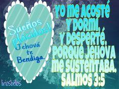 Yo me acosté y dormí,Y desperté, porque Jehová me sustentaba. Salmos 3:5