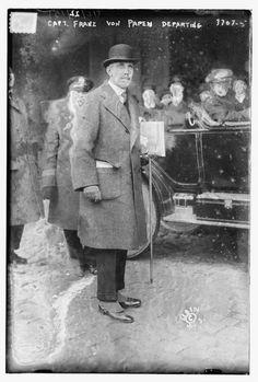 Capitán Franz von Papen en Nueva York en 1915