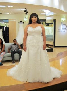 Season 7 Featured Dresses, Part 7. Mon Cheri. Dress info: 2Be. Ivory. Tulle. Strapless with sweetheart neckline. Beading along bust. Criss-cross ruching through drop waist bodice. Floral, beaded lace detail throughout A-line skirt. $2,157.00. #Weddings #SYTTD