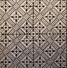 different versions of the blackwork motifs put together