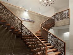 Look at this incredible iron work on the stairwell!