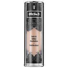 Kat Von D Lock-It Tattoo Foundation… the best full coverage foundation. Better than MAC