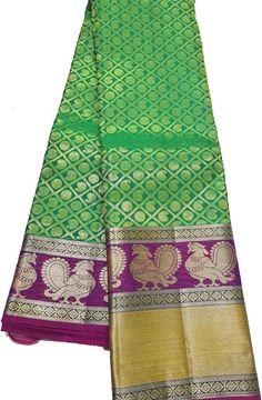 Green Handloom Kanjeevaram Pure Silk Saree Buy Sarees Online, Pure Silk Sarees, Cool Outfits, Bohemian Rug, Pure Products, Blouse, Green, Shopping, Color