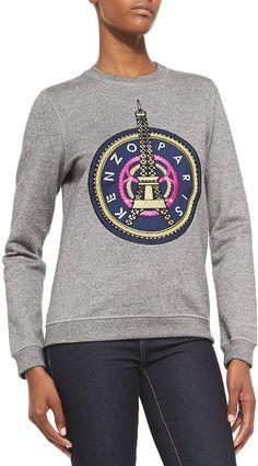 Kenzo Crewneck Sweatshirt W/ Kenzo Paris Logo