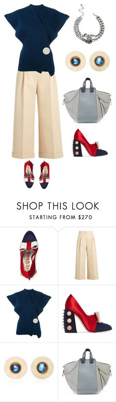 """""""Untitled #1415"""" by clothes-wise ❤ liked on Polyvore featuring Gucci, Fendi, Jacquemus, Vanda Jacintho, Loewe and DANNIJO"""