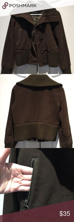 Brown bomber jacket Great bomber jacket from express. It also has some elbow patches on each arm. Express Jackets & Coats