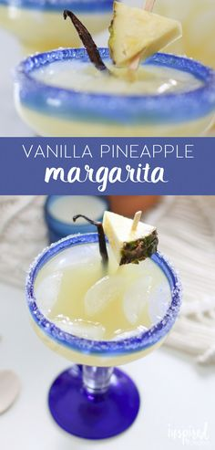 Vanilla Pineapple Margarita - a twist on a classic cocktail recipe, perfect for Cinco de Mayo! #cocktail #pineapple #margarita #recipe #cincodemayo #vanilla