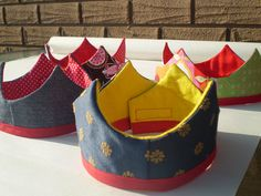 Fabric Crowns. No pattern but I like this idea and could easily wing it.