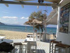 Naxos Greece, Beach Cafe, Vacation Places, Greek Islands, Places To Go, Villa, Patio, Future, Outdoor Decor