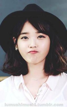 Iu Short Hair, Short Hair Styles, Girl Day, Up Girl, Korean Beauty, Asian Beauty, Prettiest Actresses, Cute Poses, Ash Blonde
