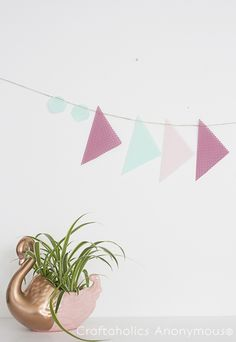 Spring no-sew Geometric Banner tutorial