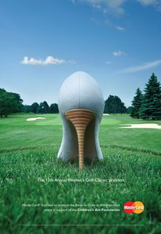 I love this ad for a women's golf tournament