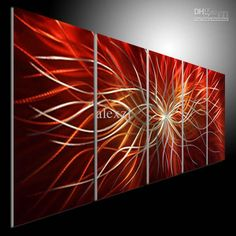 Wholesale cheap metal sculpture art online, oil painting   - Find best  metal modern abstract art oil painting art sculpture decor original art red at discount prices from Chinese metal painting supplier - alexzl on DHgate.com.