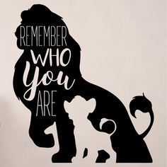 Simba wall decor - disney the lion king decor- remember who you are - vinyl Disney Wall Decor, Disney Home Decor, Disney Crafts, Disney Art, Disney Playroom, Lion King Drawings, Lion King Art, The Lion King, Lion King Theme